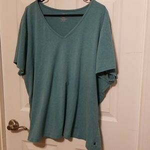Lane Bryant Blue Short Sleeve Top 26/28